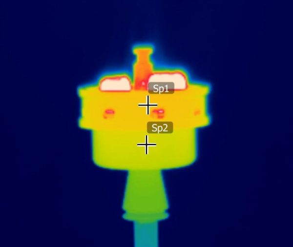Thermograph of a shisha bowl