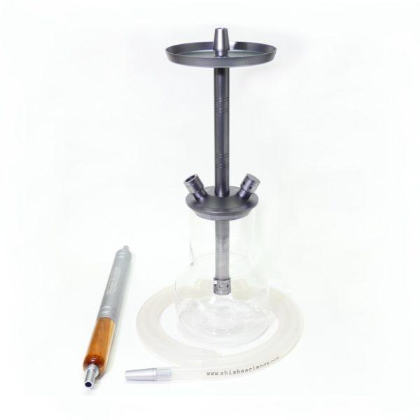 Grey color handmade hookah with ice shisha mouthpiece